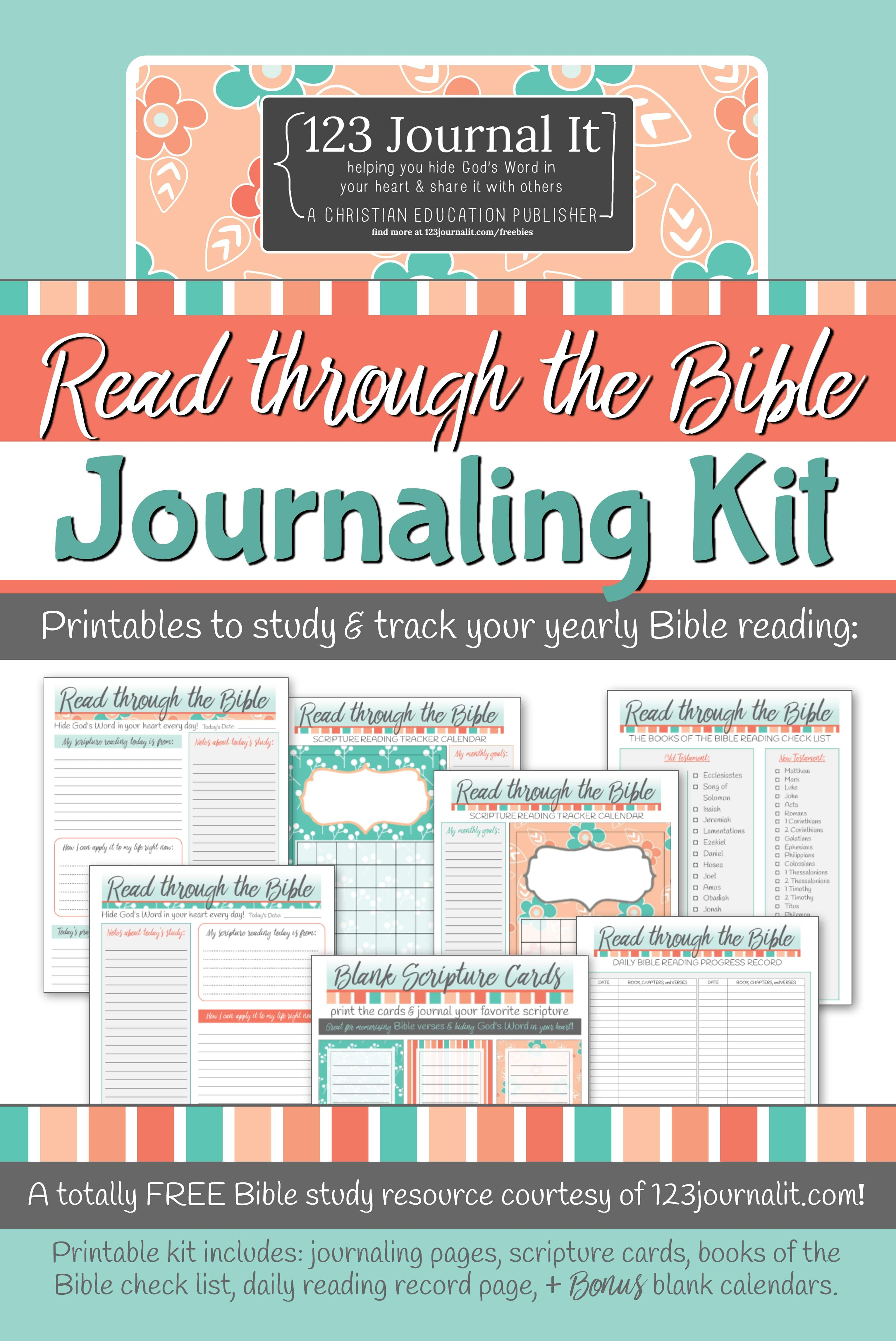 image about Bible Study Journal Printable named Absolutely free Printable Study in the course of the Bible Journaling Package