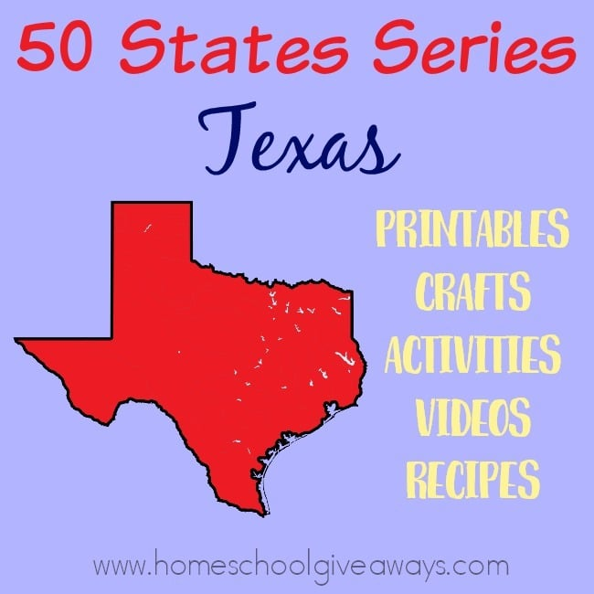 Everything you need to teach and/or learn about the great state of Texas. From free printables to must see places to visit, to crafts, activities and more! :: www.homeschoolgiveaways.com