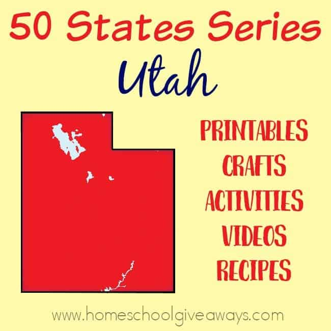 Everything you need to teach and/or learn about the great state of Utah. From free printables to must see places to visit, to crafts, activities and more! :: www.homeschoolgiveaways.com
