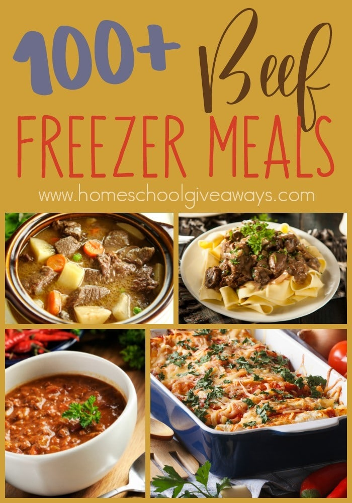 Busy nights don't have to mean eating out! Freezer meals are a great way to help you save money and eat home - even during the busy seasons of life! Check out these Beef Freezer Recipes that are sure to please! :: www.homeschoolgiveaways.com
