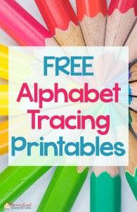 FREE Alphabet Tracing Printables