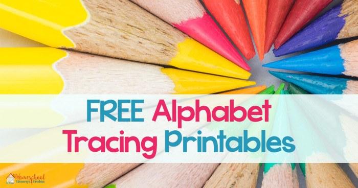 FREE Alphabet Tracing Printables FB