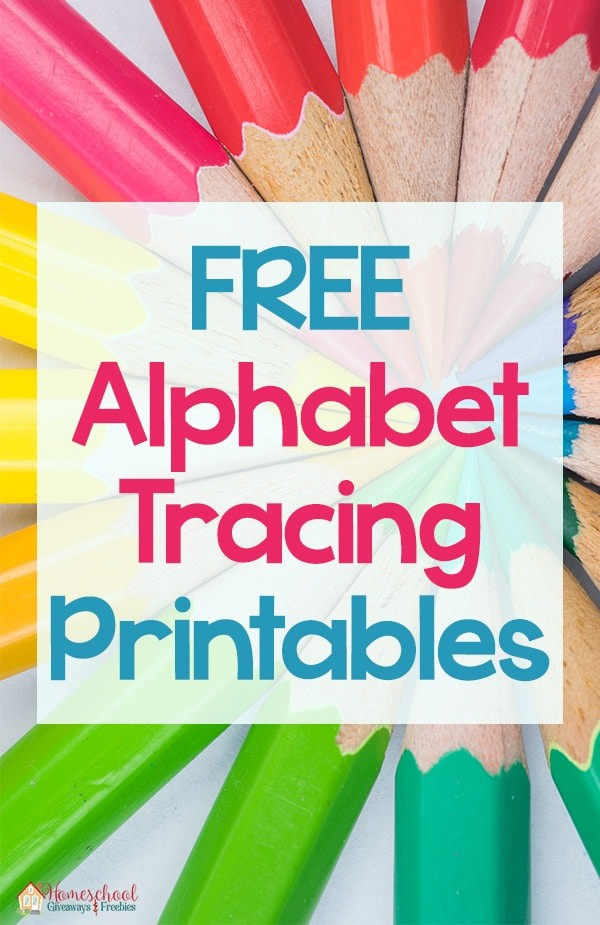 FREE Alphabet Tracing Printables
