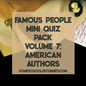 FREE Famous People Mini Quiz Pack Volume 7 - American Authors