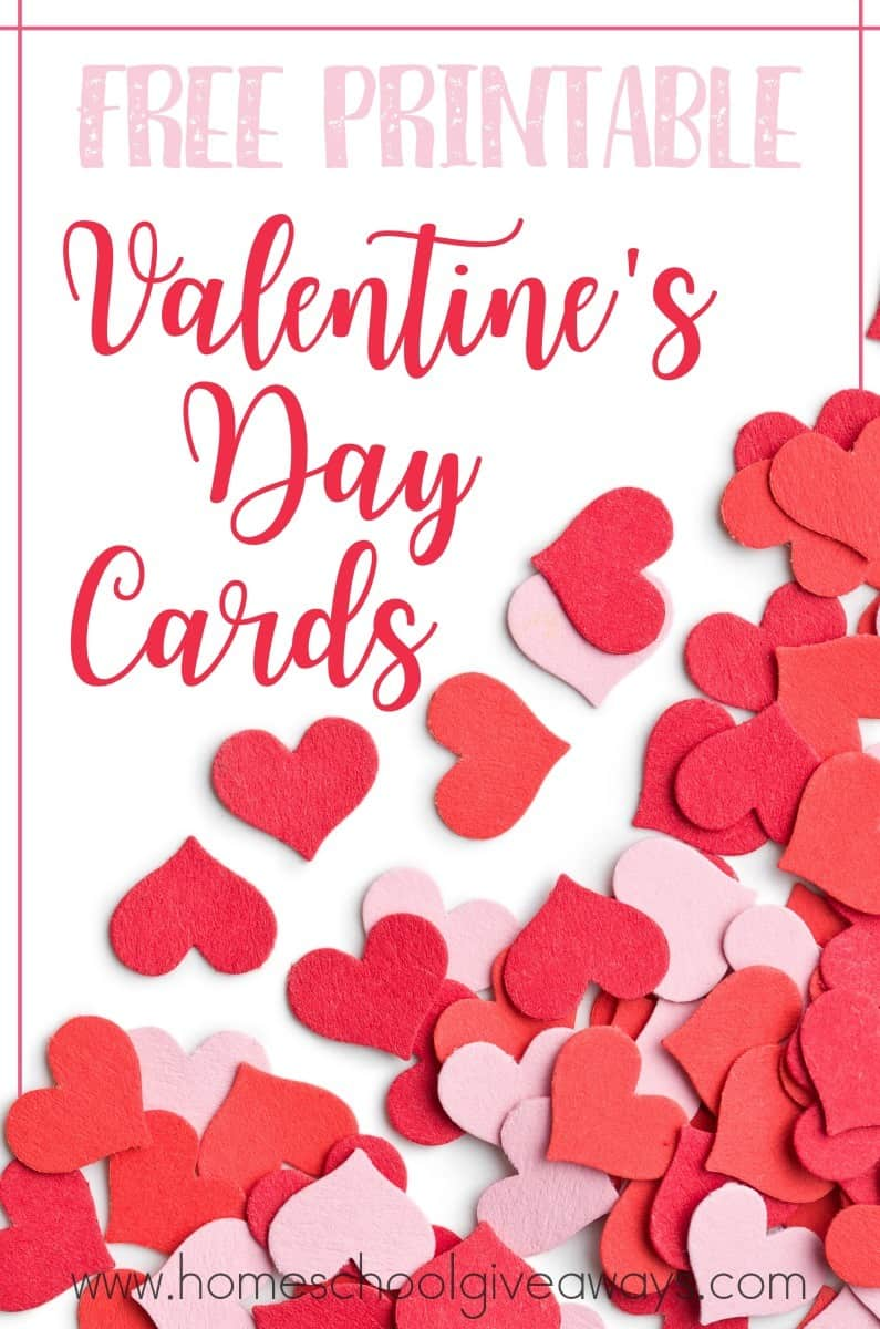 graphic about Printable Valentine Day Cards for Kids titled Cost-free Printable Valentines Working day Playing cards - Homeschool Giveaways