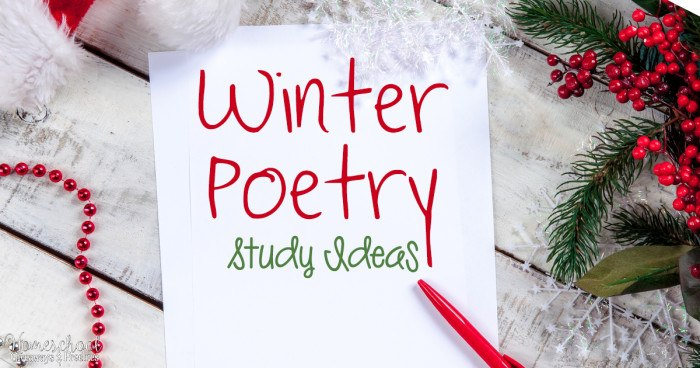 Winter Poetry Study Ideas FB