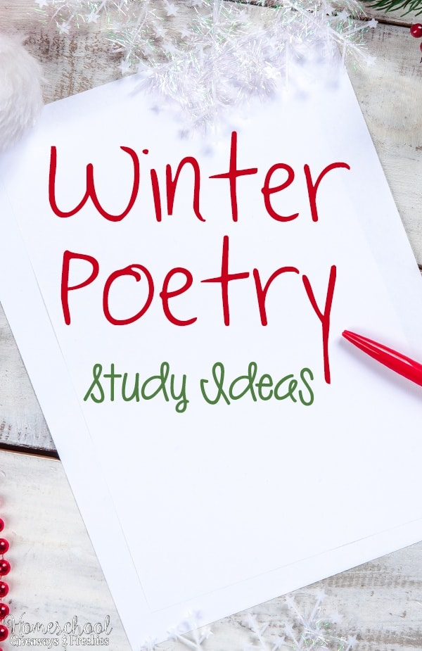 Winter Poetry Study Ideas
