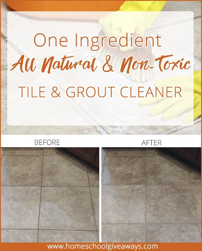 1 Ingredient All Natural Non Toxic Tile Amp Grout Cleaner