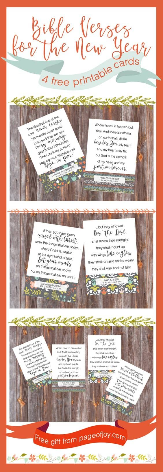 Bible Verses for the New Year (4 FREE Printable Cards)