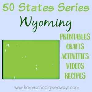 Everything you need to teach and/or learn about the great state of Wyoming. From free printables to must see places to visit, to crafts, activities and more! :: www.homeschoolgiveaways.com