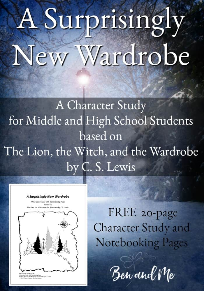 Help your middle and high schooler learn about biblical character through this fun and unique Character Study based on C.S. Lewis' famous book, The Lion, the Witch and the Wardrobe. :: www.homeschoolgiveaways.com