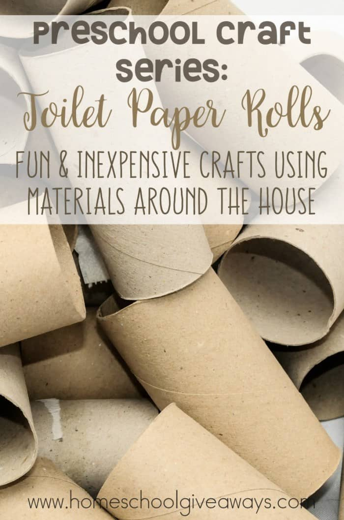 "used toilet paper rolls with overlay ""Preschool Craft Series: Toilet Paper Rolls"""