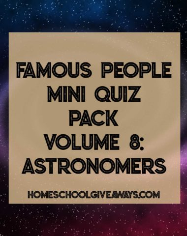 Famous People Mini Quiz Pack-Volume 8 Astronomers
