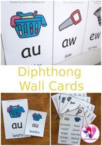 diphthongwallcardsblog