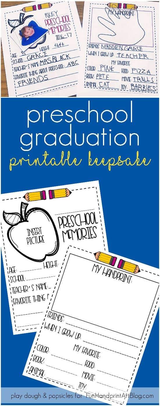 photo about Preschool Memory Book Printable named Cute Cost-free Printable Reminiscences Keepsake for Preschool
