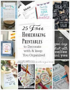 free-homemaking-printables