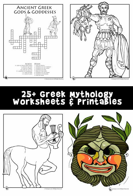 25 Greek Mythology Free Worksheets And Printables