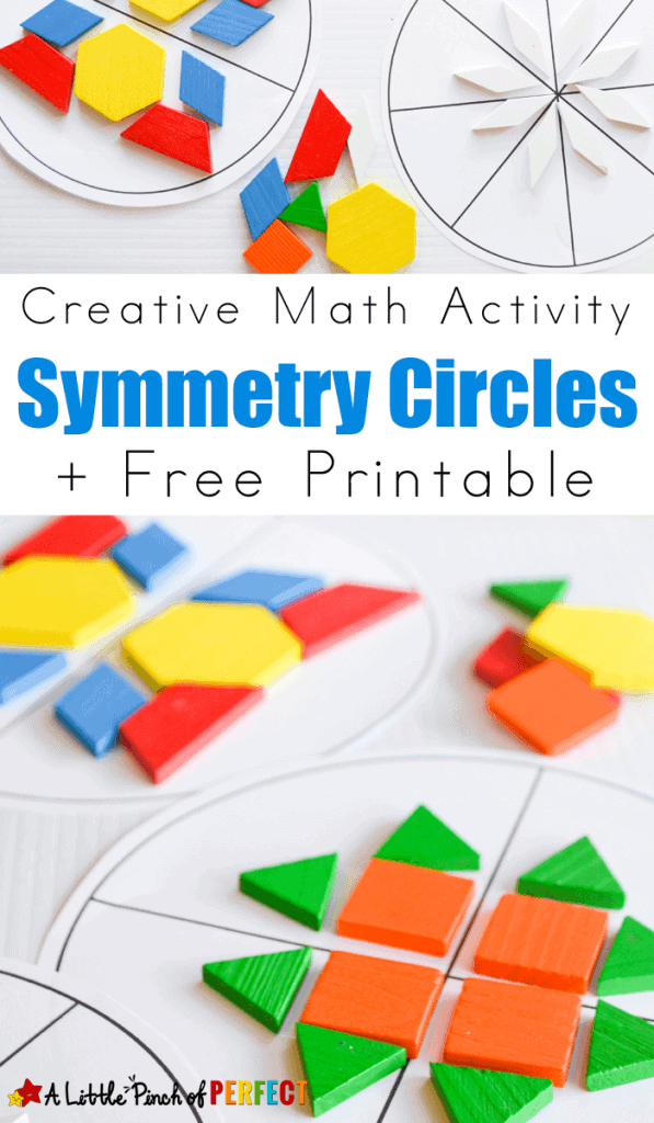 symmetry circles math activity and free printable