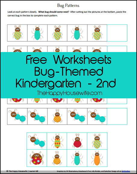 Bug-Themed-Worksheets
