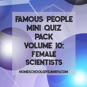 Famous People Mini Quiz Pack Volume 10 - Female Scientists