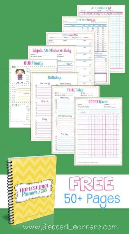 Adorable image with regard to homeschool printable planner