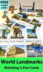 World-Landmarks-3-Part-Cards-Matching