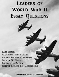 Leaders of World War II Essay Questions, Part Three
