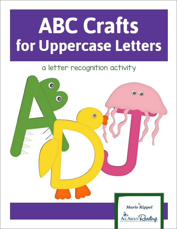 abc crafts for uppercase letters free book