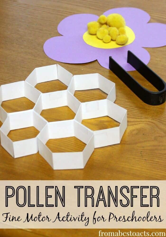 fine-motor-pollen-transfer-bumblebee-preschool-theme