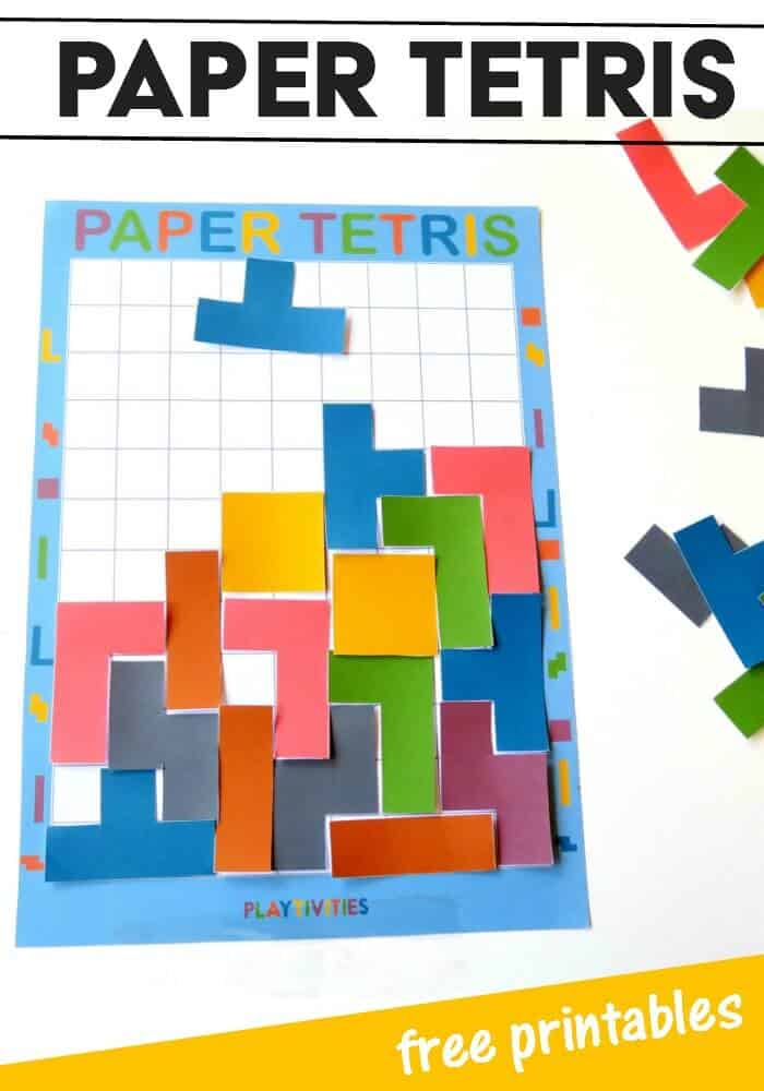 photo relating to Pinterest Printables identify Do-it-yourself Paper Tetris Cost-free Printables - Homeschool Giveaways