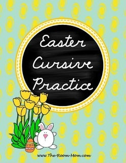 spring and easter cursive cover