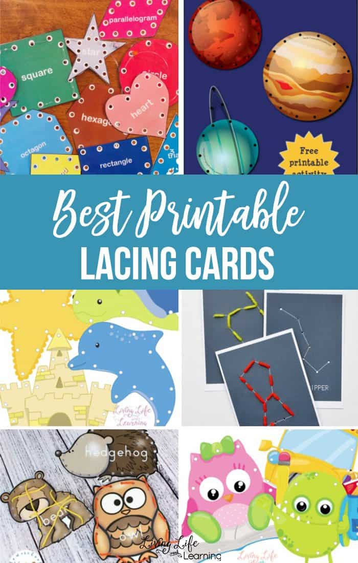 graphic relating to Printable Lacing Cards titled Cost-free Printable Lacing Playing cards Recreation - Homeschool Giveaways
