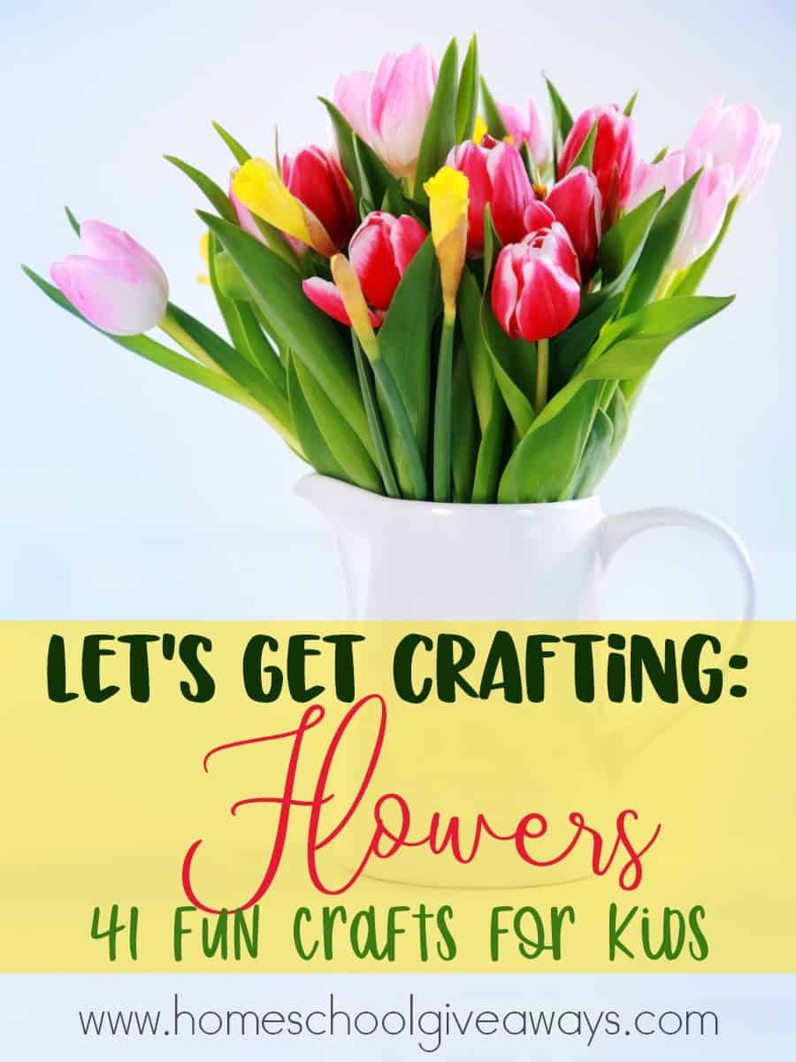 Adding crafts to your studies can be fun. If you're studying flowers this Spring, check out these fun crafts for kids! :: www.homeschoolgiveaways.com
