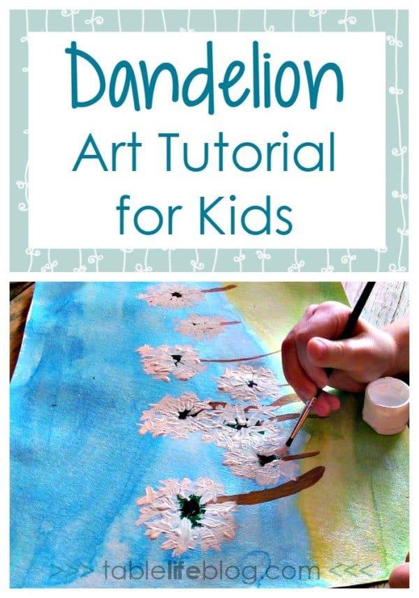 Dandelion-Art-Tutorial-for-Kids