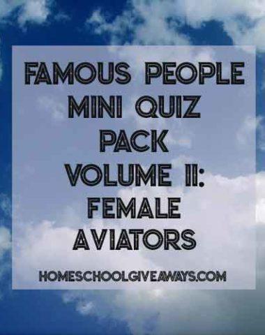 FREE Famous People Mini Quiz Pack Vol. 11 - Female Aviators