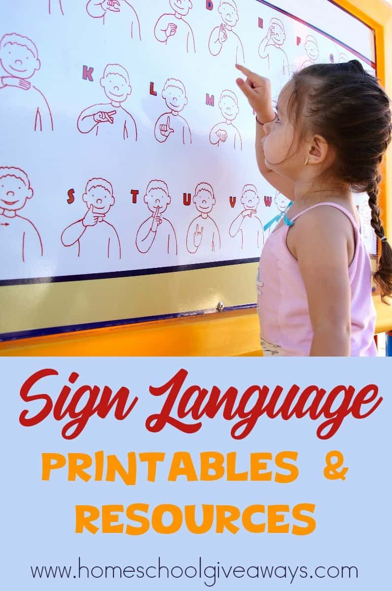 This is a picture of Wild Printable Sign Language Worksheets