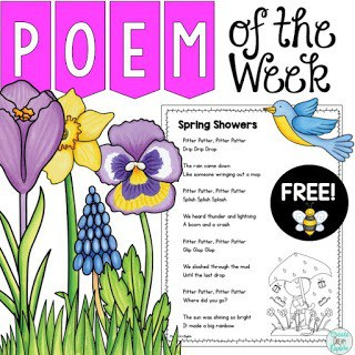 Spring poem of the week freebie