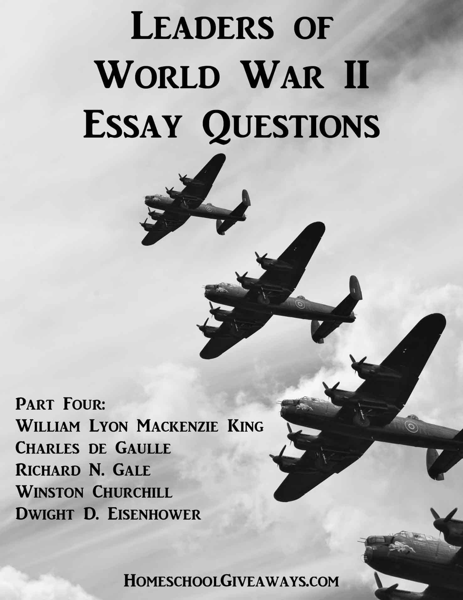 Computer Science Essays Free Leaders Of World War Ii Essay Questions Part Four  Homeschool  Giveaways Thesis Statement For Descriptive Essay also Analysis And Synthesis Essay Free Leaders Of World War Ii Essay Questions Part Four  Homeschool  Help Writing Essay Paper