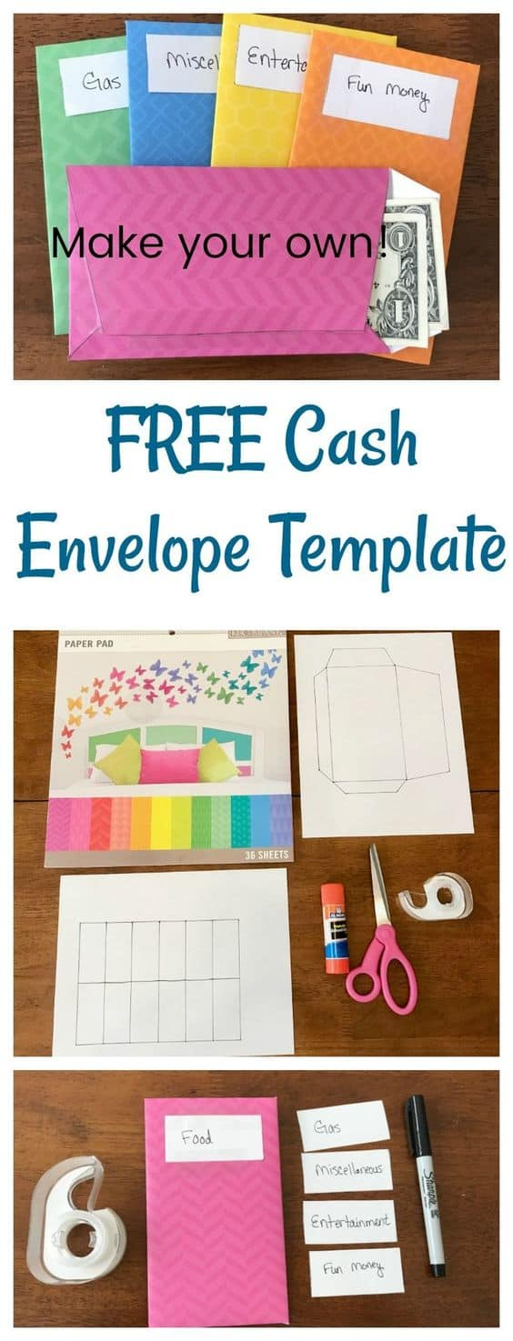 graphic regarding Cash Envelope Printable named Absolutely free Printable Income Envelope Approach - Homeschool Giveaways
