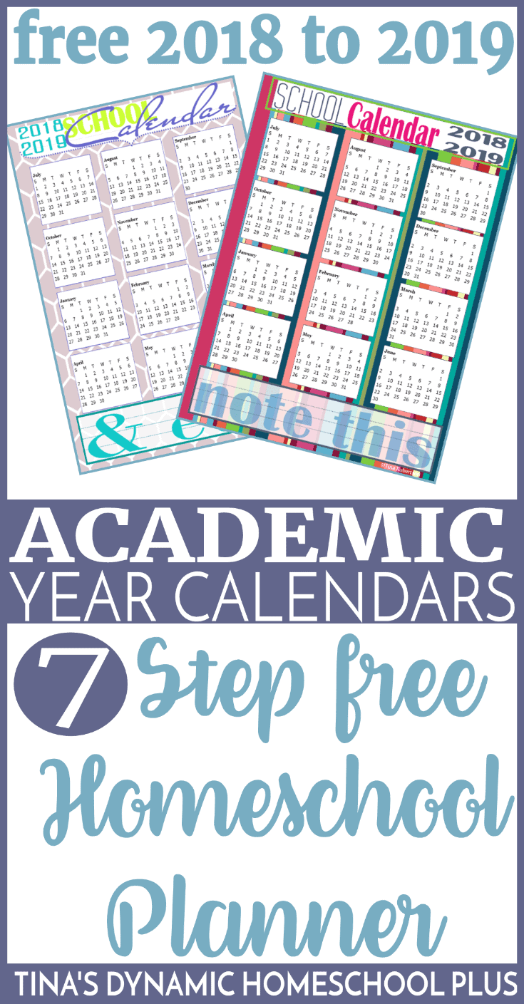 2018 to 2019 academic year calendars tinas