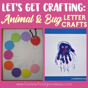 Here are some amazing crafts we have found to help you make the alphabet come to life...and possibly take you on a few rabbit trails of learning along the way! :: www.homeschoolgiveaways.com