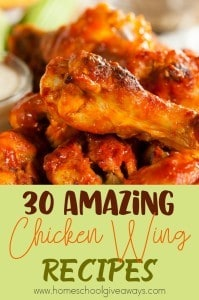 Do you love chicken wings? Are you tired of the same old flavors? Check out these 30 amazing and different recipes to bring more flavor to the table! :: www.homeschoolgiveaways.com