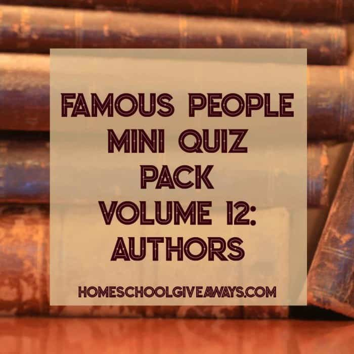 Famous People Mini Quiz Pack Volume 12: Authors