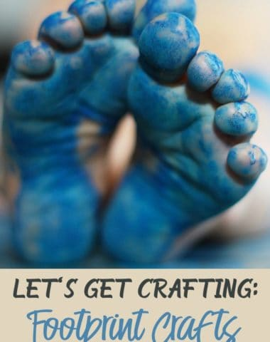 Tiny footprints don't stay small forever, so what better way to cherish their current size than by doing some cute crafts. Not to mention your little ones will love discovering all the things their toes can create! :: www.homeschoolgiveaways.com