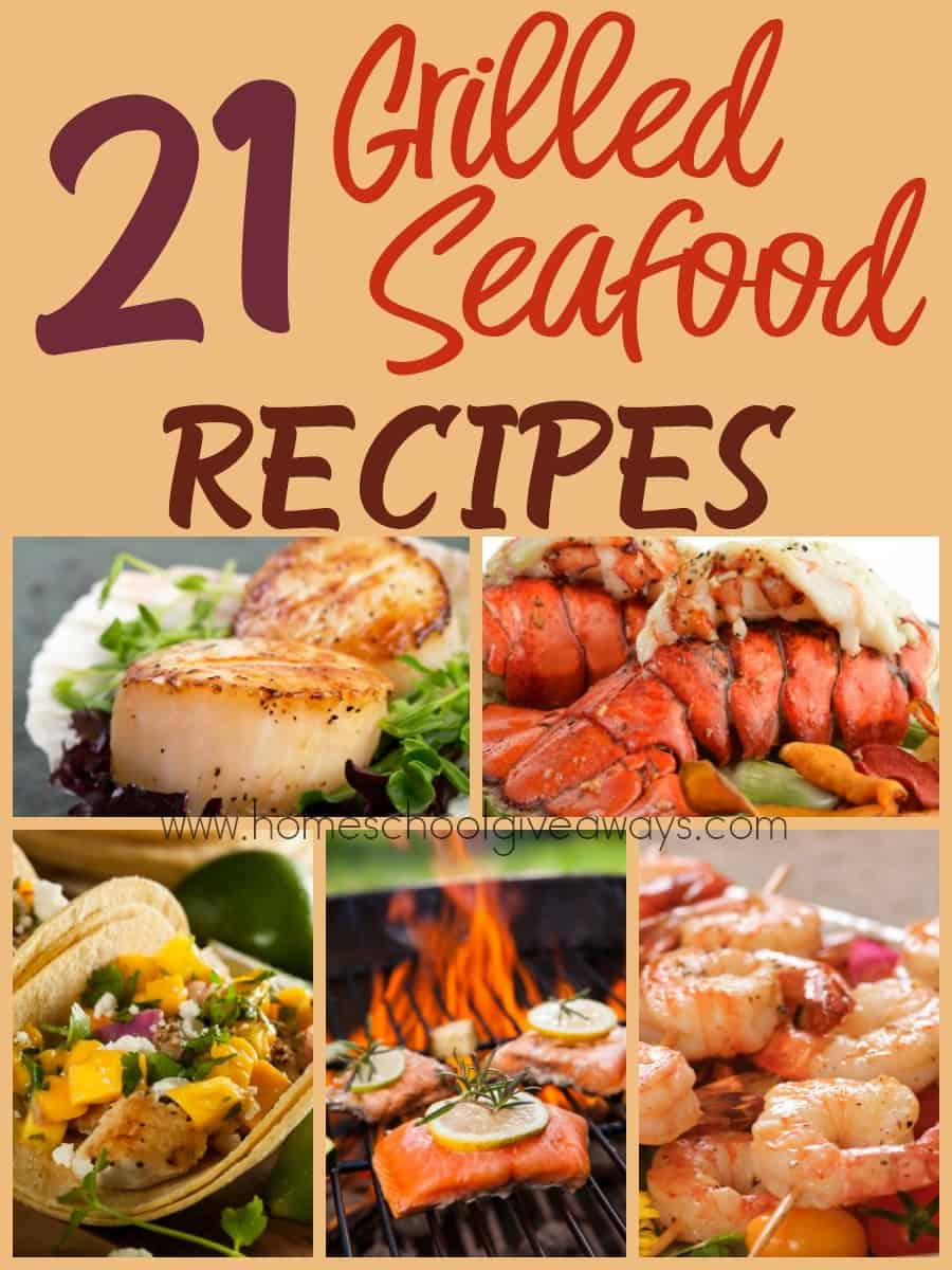 Grilling season is in full swing, but there's more than just burgers and hot dogs you can enjoy. Check out these grilled seafood recipes that are sure to please your tastebuds! :: www.homeschoolgiveaways.com