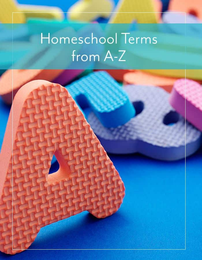 AOP Homeschool Terms from A-Z
