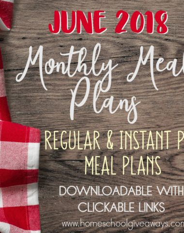 A new month is upon us and that means another month of meal planning. Check out these Summer recipes to help you stick to a budget, get out of a rut or just to give your planning brain a rest! :: www.homeschoolgiveaways.com