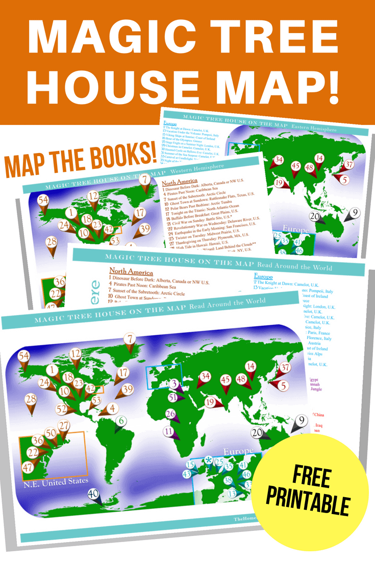 Magic Tree House Map