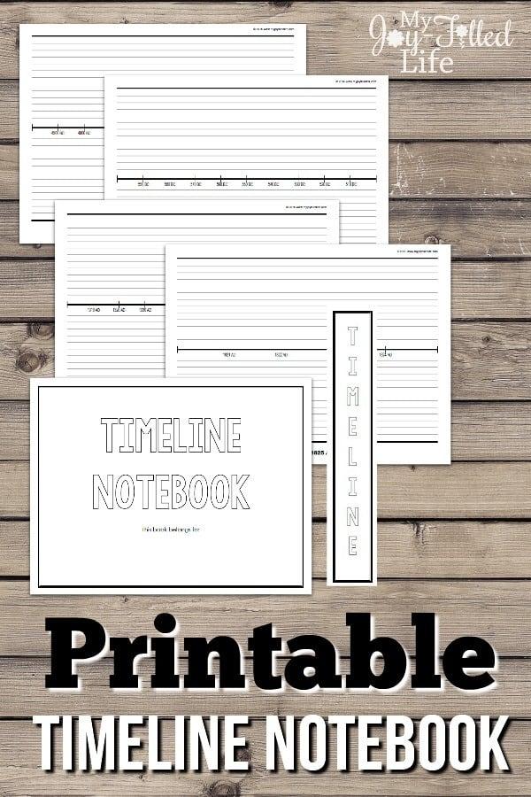 Printable-Timeline-Notebook