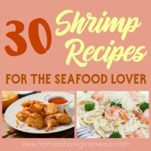 Shrimp happens to be a great source of protein, selenium, copper, choline, zinc, niacin and vitamins B6 and B12. However, many of us probably only know of a few limited ways to cook shrimp. Check out this list for some inspiration! :: www.homeschoolgiveaways.com